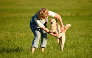 Antje Hebel mit Hund